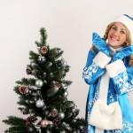 Снегурочка Ксюшенька в паре с Владимиром, костюм №2